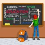 Education concept in wordcloud — Stock Vector