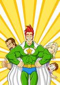 Family superhero — Stock Vector
