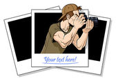 Photographer in action — Stock Vector