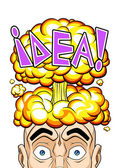 Explosive idea — Stock Vector