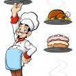 Cheerful chef — Stock Vector #33037909
