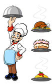 Cheerful chef — Stockvector