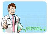 Cheerful doctor — Stock Vector