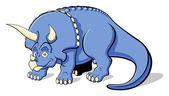 Triceratops for children — Stock Vector