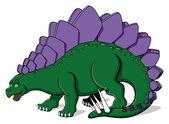 Stegosaurus for children — Stock Vector