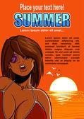 Hot summer — Stock Vector