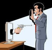 Online robbery — Stock Vector
