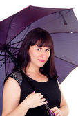 A beautiful girl with umbrella — Stock Photo