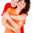 A happy family, a couple hugging — Stock Photo #16253003