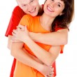 A happy family, a couple hugging — Stock Photo #16253017
