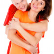 Royalty-Free Stock Photo: A happy family, a couple hugging