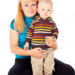 Family mother and little child — Stock Photo #17379091