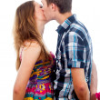 Beautiful couple kissing — Foto Stock