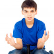 Boy losing in a video game — Stock Photo #17383399