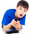Boy plays games — Stock Photo