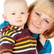 Happy family mother and little child — Stock Photo