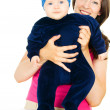 Stock Photo: Happy mother with baby