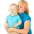 Happy portrait of the mother and child — Stock Photo