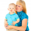 Stock Photo: Happy portrait of the mother and child