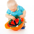 Stock Photo: Little child with helmet