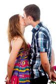 Beautiful couple kissing — Stock Photo