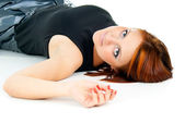 Beautiful girl lying — Stock Photo