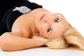 Beautiful girl lying — Stock Photo