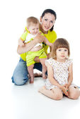 Happy family with children — Stock Photo