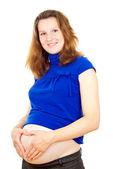 счастливый беременная девушка — Стоковое фото