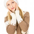 Girl in a winter cap — Stock Photo