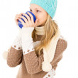 Stock Photo: Girl in winter cap