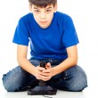 Guy playing video games — Stock Photo #18008255