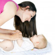 Mother playing with baby — Stock Photo #18009401