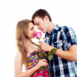 Portrait of a beautiful couple in love — Stock Photo #18009841
