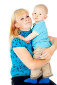Mother holding a baby in her arms — Stock Photo