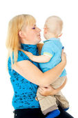 Mother holds a child — Stock Photo