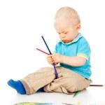 Portrait of a beautiful little boy — Stock Photo #18010005