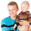 Young father with baby — Stockfoto