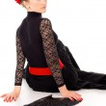 Girl dancer sitting — Stock Photo #18770671