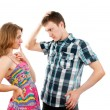 Love guy and girl flirt — Stock Photo
