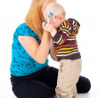 Mother comforting child — Stock Photo