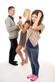 Male cheating his girlfriend — Stock Photo