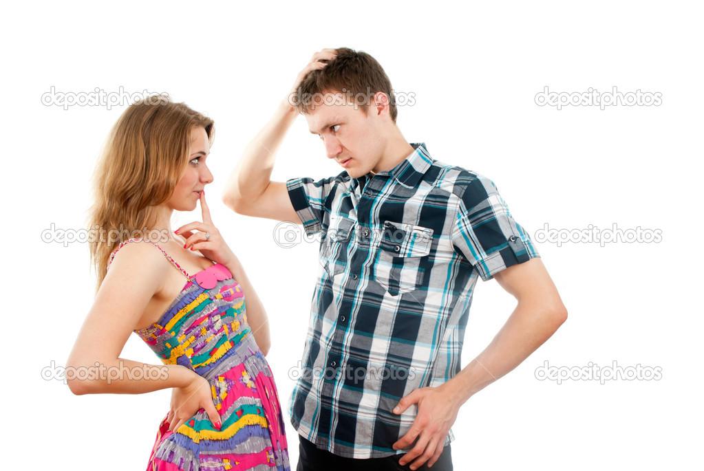 Любящие парень с девушкой фото