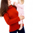 Mother keep is a little baby, a happy family — Stock Photo #19649927