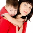 A little baby embraces the mother — Stock Photo #20501127