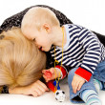 Baby regret mother — Stock Photo #20501913