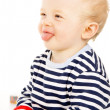 Beautiful baby shows language — Stock Photo #20501979