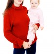 Mom and the little baby, a happy family — Stock Photo #20503507
