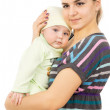 A happy mother of presses her baby to yourself — Stock Photo
