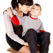 A small child kissed my mother — Foto Stock